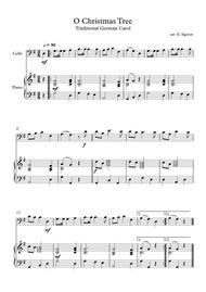 O Christmas Tree, Traditional German Carol, For Cello & Piano