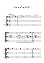 Carol of the Bells for 3 Violins (Violin Trio)
