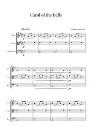 Carol of the Bells for Violin, Viola and Cello (String Trio)
