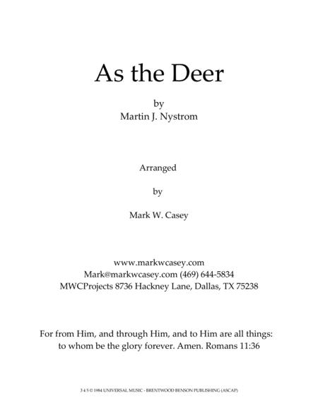 As The Deer