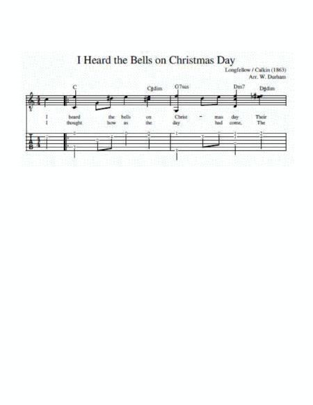I Heard The Bells On Christmas Day - Fingerstyle Guitar - Tab / Notation / Lyrics By - Digital ...