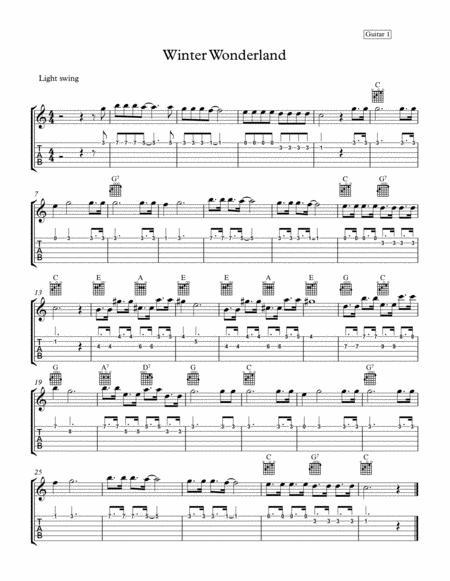 Winter Wonderland Guitar 1 part