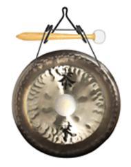10 Deco Gong Set Wall Hanger