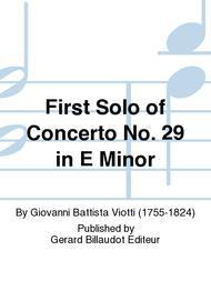 First Solo of Concerto No. 29 in E Minor