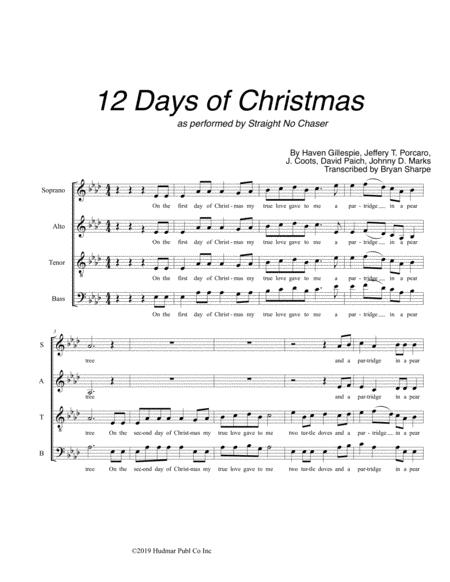 The 12 Days Of Christmas - SATB A cappella
