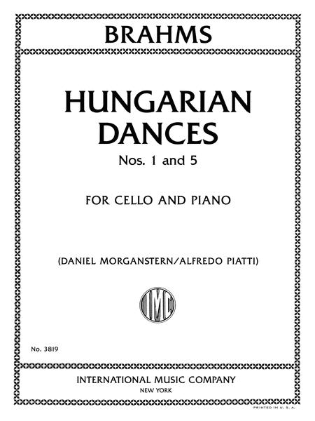 Hungarian Dances, Nos. 1 and 5 for Cello and Piano
