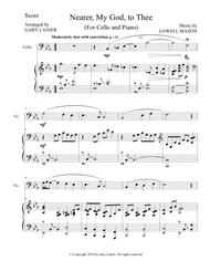 NEARER, MY GOD, TO THEE (Duet– Cello/Piano with Score and Instrument Part)