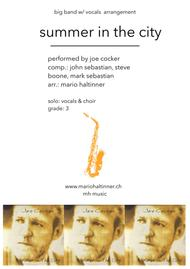 Summer In The City - Joe Cocker - Jazz Ensemble w/ vocals - score & parts