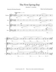 The First Spring Day (SATB, a cappella) - original choral piece by Sarah Jaysmith, text by Christina Rossetti