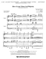 How Great Thou Art/Majesty- 4-Hand Piano Part-Digital Version