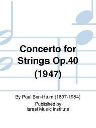 Concerto for Strings Op.40