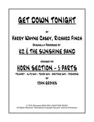 Get Down Tonight - long version - Trumpet, Alto Sax, Tenor Sax, Bari Sax, Trombone (Horn Section Only)