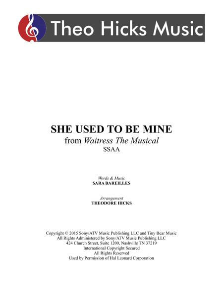 She Used To Be Mine (from Waitress the Musical)