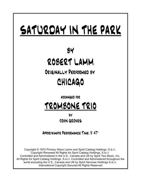 Saturday In The Park - Trombone Trio
