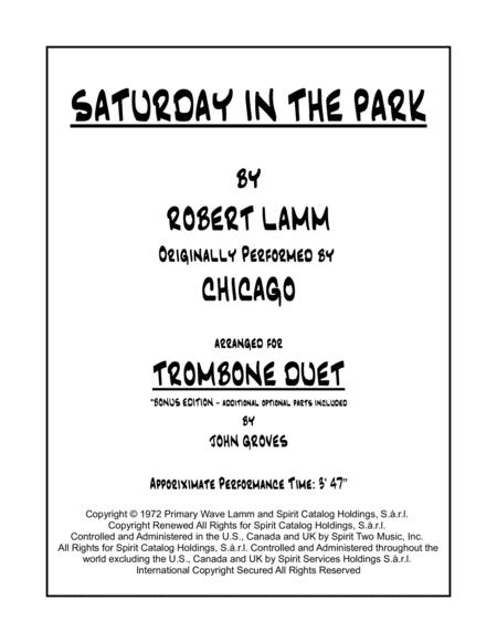 Saturday In The Park - Trombone Duet