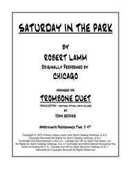Saturday In The Park - Trombone Duet
