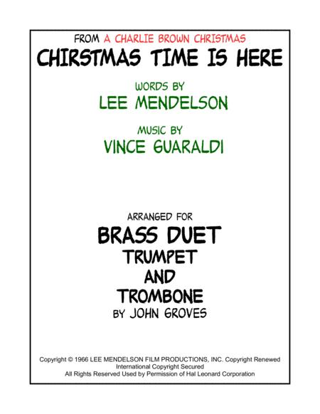 Christmas Time Is Here for Trumpet & Trombone (Brass Duet)