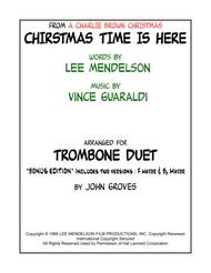 Christmas Time Is Here - Trombone Duet