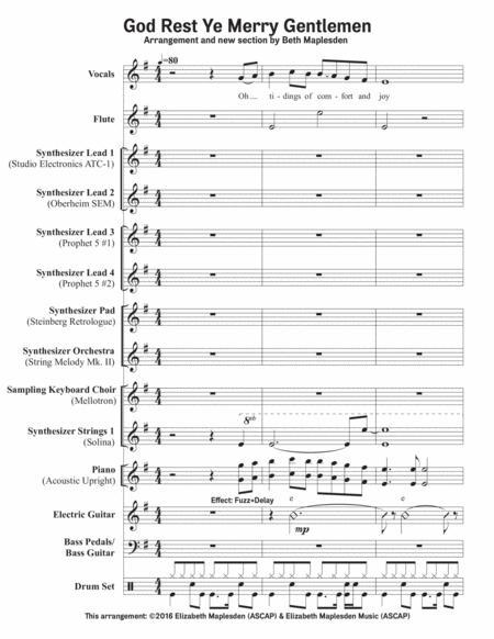 God Rest Ye Merry Gentlemen (Full Score 8.5x11)