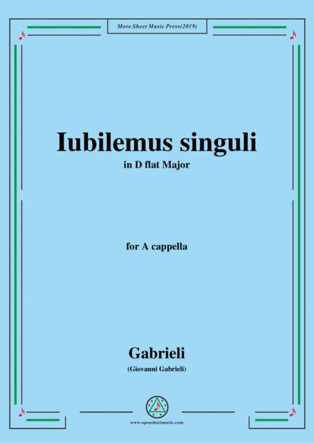 Gabrieli,Giovanni-Iubilemus singuli,in D flat Major,for A cappella
