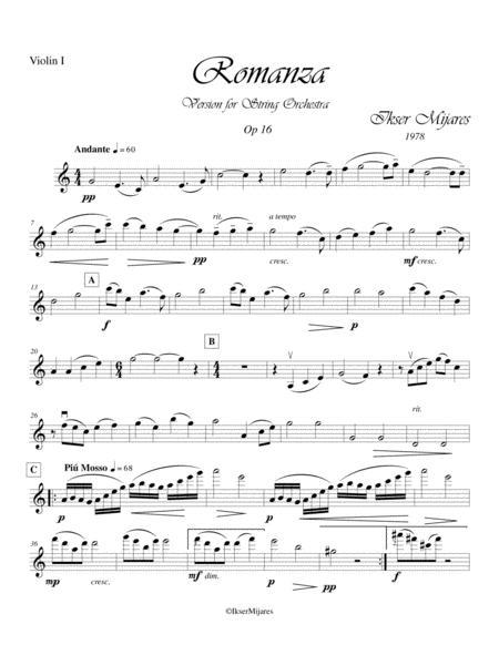 Romanza Op 16 - Violin I