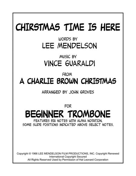 Christmas Time Is Here - (Easy) Solo Trombone