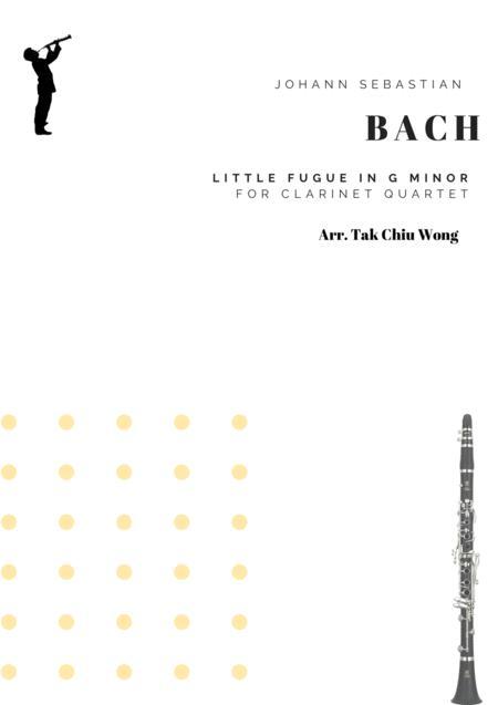 Little Fugue in G minor arranged for Clarinet Quartet
