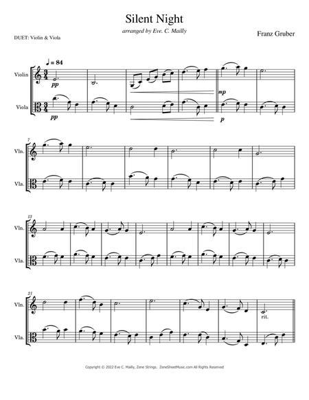 Silent Night - Duet for Violin & Viola