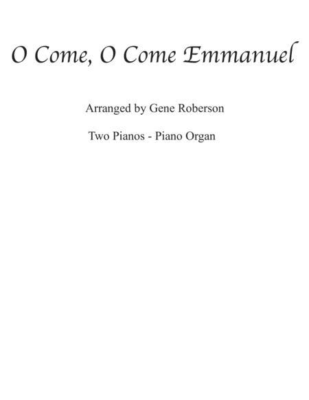 O Come, O Come Emmanuel (Veni Veni) Twin piano - Organ Piano