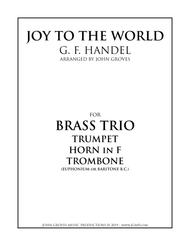 Joy To The World - Trumpet, Horn, Trombone (Brass Trio)