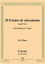 Czerny-30 Etudes de mécanisme,Op.849 No.2,Molto allegro in C Major,for Piano