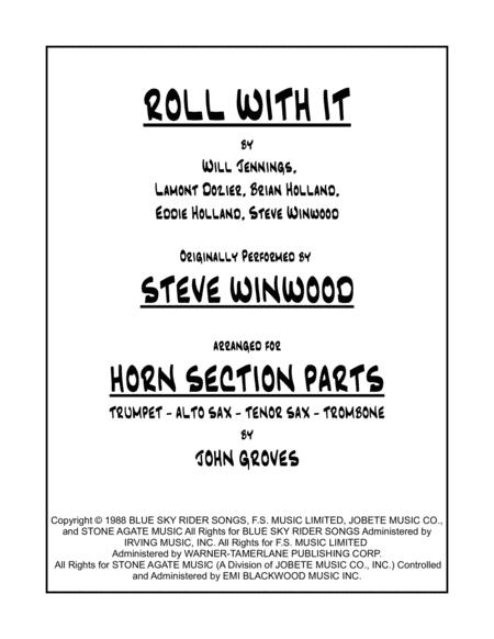 Roll With It - Trumpet, Alto & Tenor Sax, Trombone (Horn Section Only)