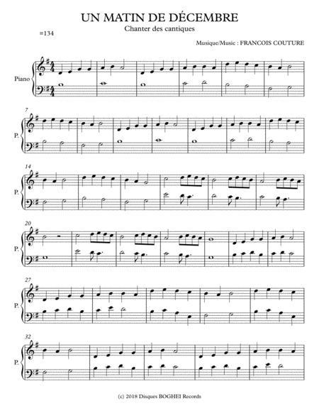 UN MATIN DE DÉCEMBRE - Chanter des cantiques