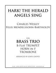 Hark! The Herald Angels Sing - Trumpet, Horn, Trombone (Brass Trio)