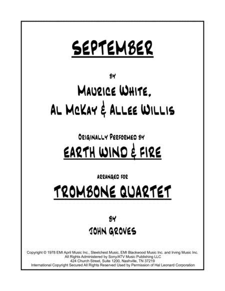 September - Trombone Quartet