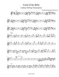 Lindsey Stirling Carol of the Bells Violin Part Sheet Music