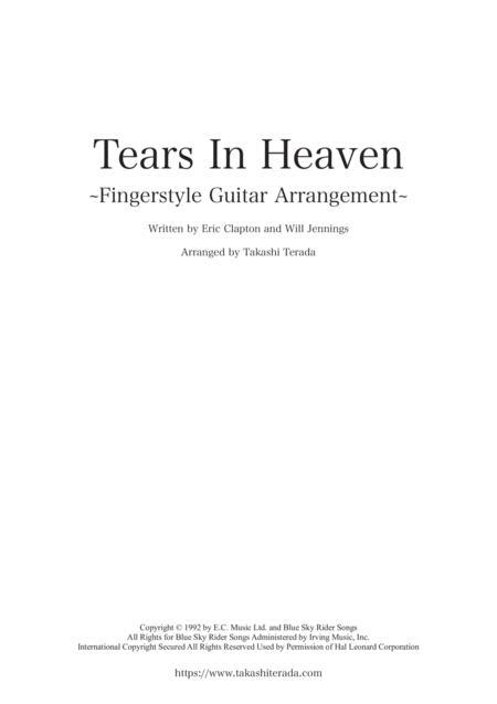 Tears In Heaven ~Fingerstyle Guitar Arrangement~