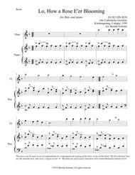 Lo, How a Rose E'er Blooming (flute/piano), arr. Brenda Portman