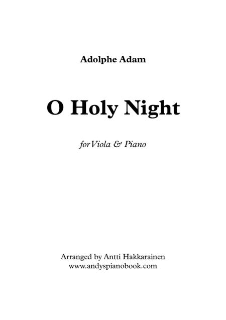 O Holy Night - Viola & Piano