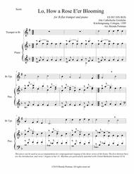 Lo, How a Rose E'er Blooming (trumpet/piano), arr. Brenda Portman