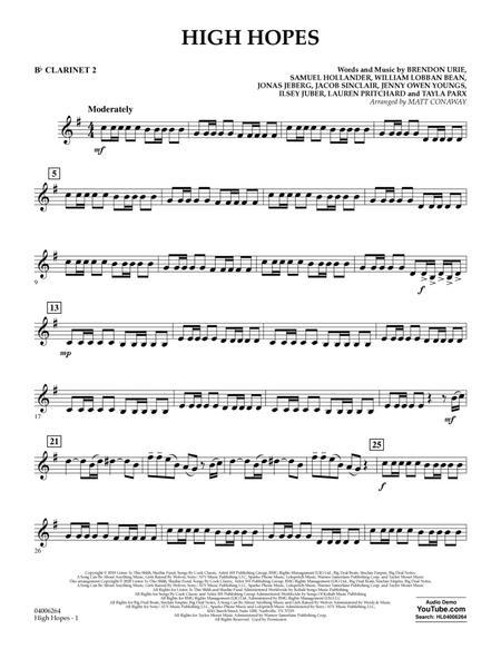 High Hopes (arr. Matt Conaway) - Bb Clarinet 2