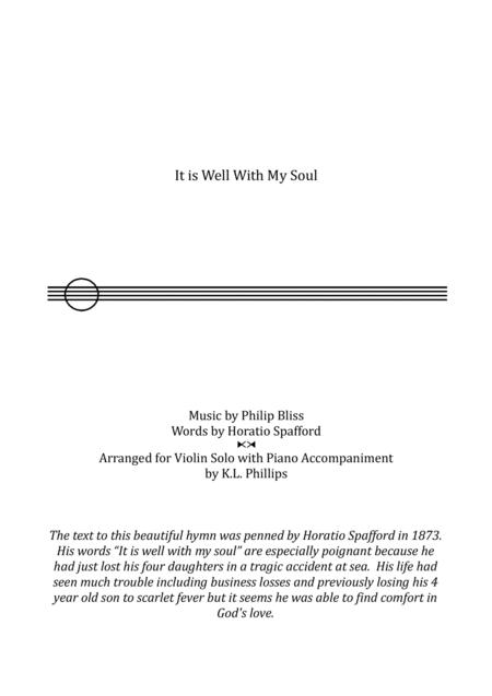 It Is Well with My Soul - Violin Solo with Piano Accompaniment