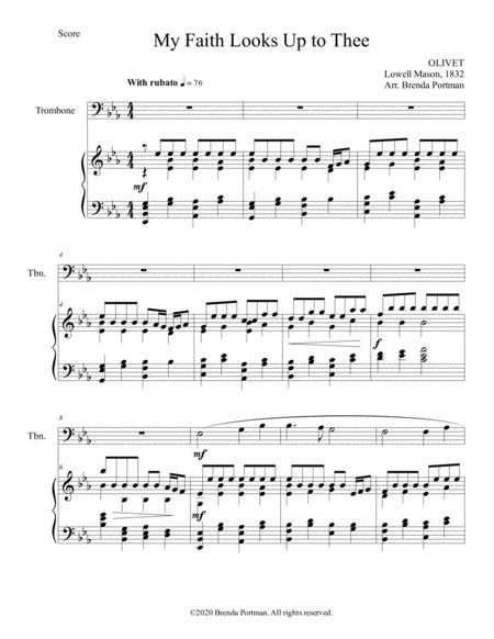 My Faith Looks Up to Thee (trombone/piano), arr. Brenda Portman
