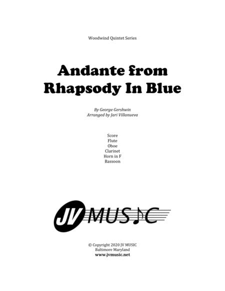 Andante from Rhapsody in Blue for Woodwind Quintet