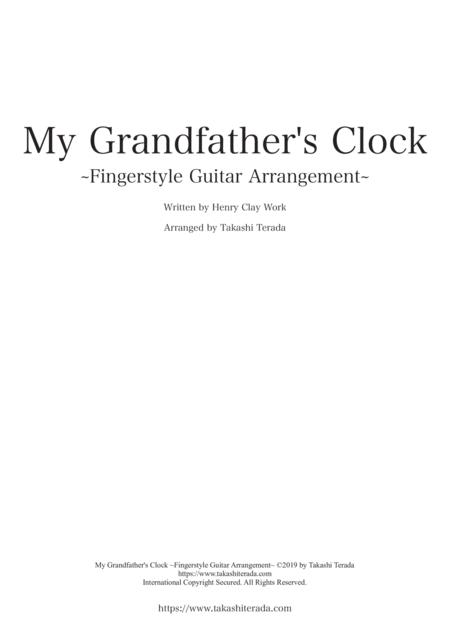 My Grandfather's Clock ~Fingerstyle Guitar Arrangement~
