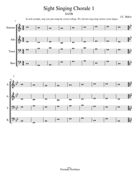 Sight Singing 4-Part SATB Chorale Practice