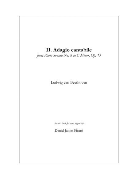 Adagio Cantabile from Sonata Pathétique (Solo Organ)