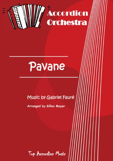 PAVANE Music by G. Fauré (Accordion orchestra full score and parts)