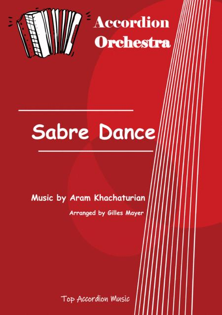 SABRE DANCE (Accordion orchestra sheet music full score and parts)