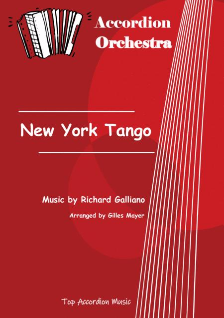 NEW YORK TANGO (Accordion orchestra sheet music full score and parts)